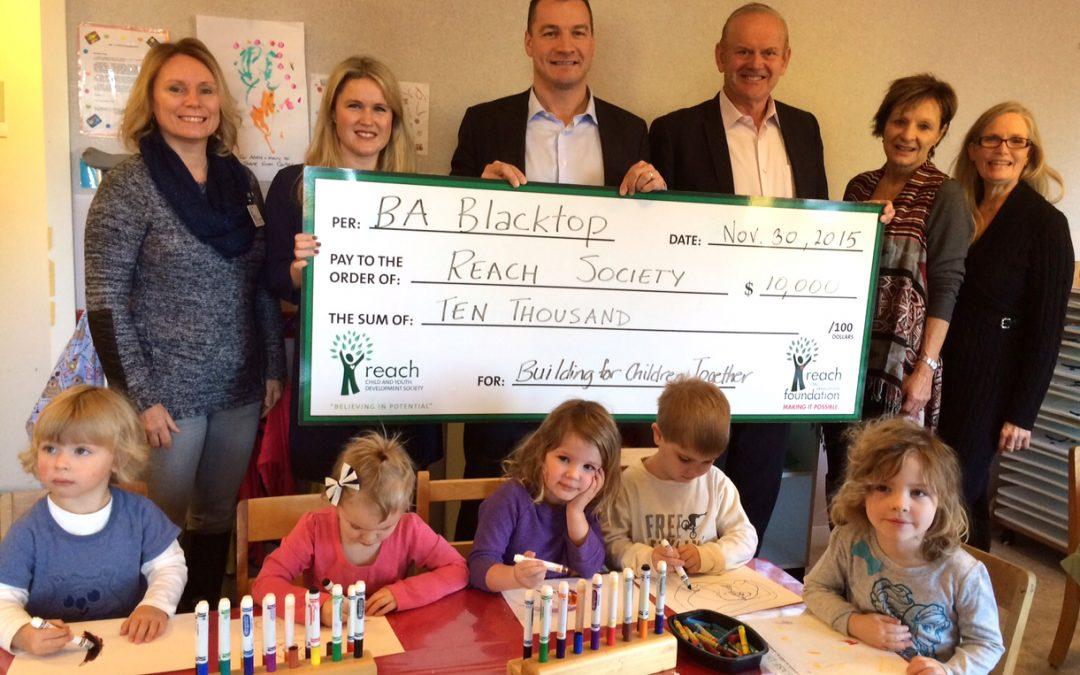 Ba Blacktop Donates $10,000 To Reach